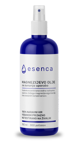 Esenca Magnezijevo olje v modri flaški